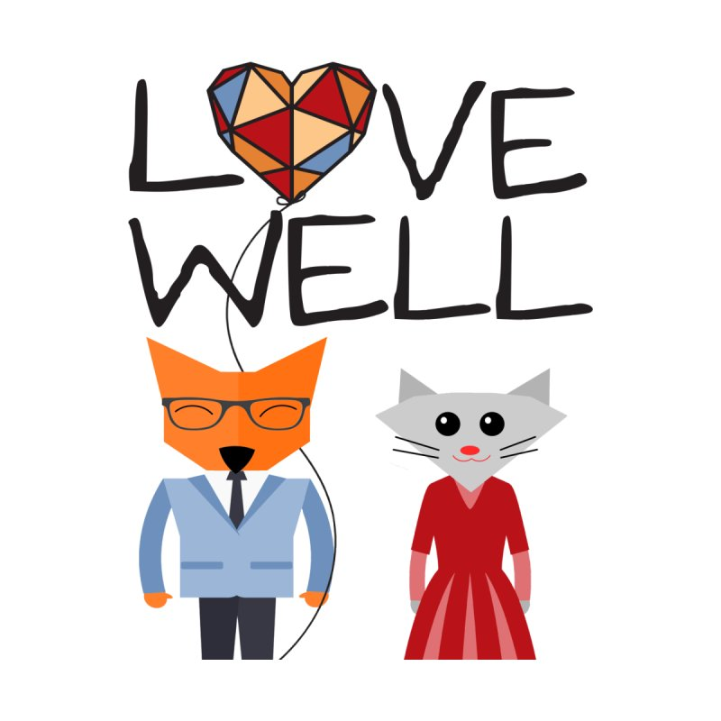 Foxy Lovewell Cat (by Tobi Waldron) Kids Longsleeve T-Shirt by Love Well's Artist Shop