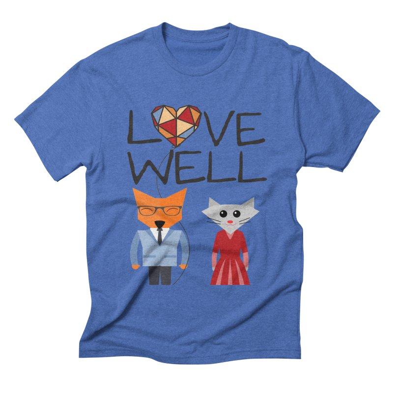 Foxy Lovewell Cat (by Tobi Waldron) Men's T-Shirt by Love Well's Artist Shop