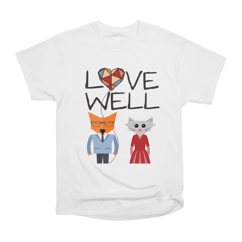 Foxy Lovewell Cat (by Tobi Waldron) Men's Heavyweight T-Shirt by Love Well's Artist Shop