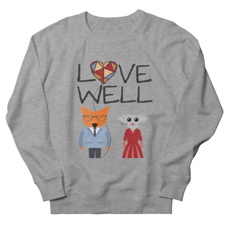 Foxy Lovewell Cat (by Tobi Waldron) Men's French Terry Sweatshirt by Love Well's Artist Shop