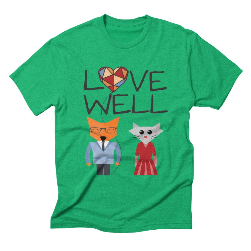 Foxy Lovewell Cat (by Tobi Waldron) Men's T-Shirt by Love Well's Artist Shop
