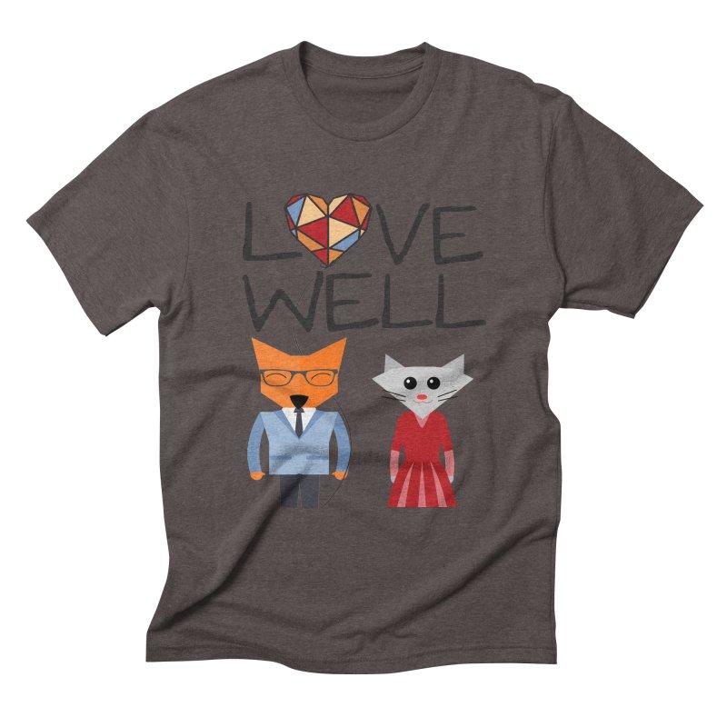 Foxy Lovewell Cat (by Tobi Waldron) Men's Triblend T-Shirt by Lovewell's Artist Shop