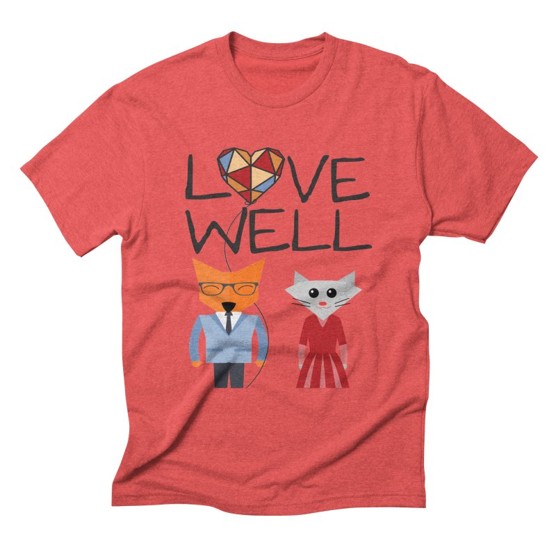 Foxy Lovewell Cat (by Tobi Waldron) Men's Triblend T-Shirt by Lovewell's Artist Shop