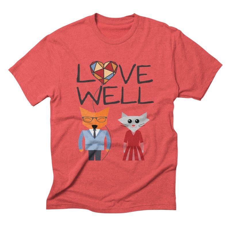 Foxy Lovewell Cat (by Tobi Waldron) Men's Triblend T-Shirt by Love Well's Artist Shop