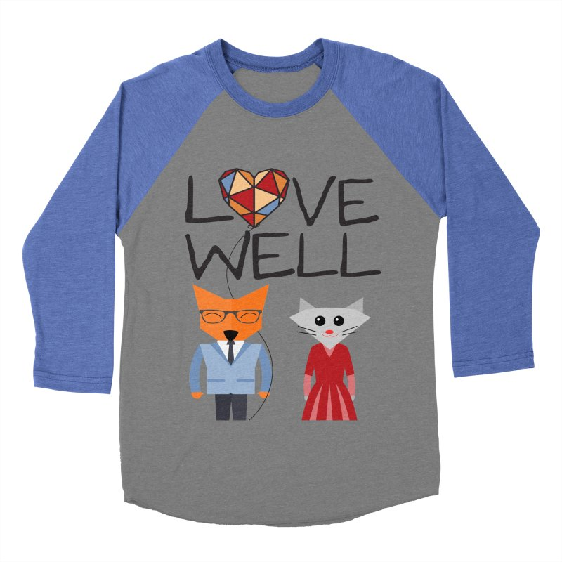 Foxy Lovewell Cat (by Tobi Waldron) Men's Baseball Triblend T-Shirt by Lovewell's Artist Shop