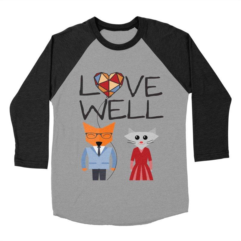 Foxy Lovewell Cat (by Tobi Waldron) Men's Baseball Triblend Longsleeve T-Shirt by Love Well's Artist Shop