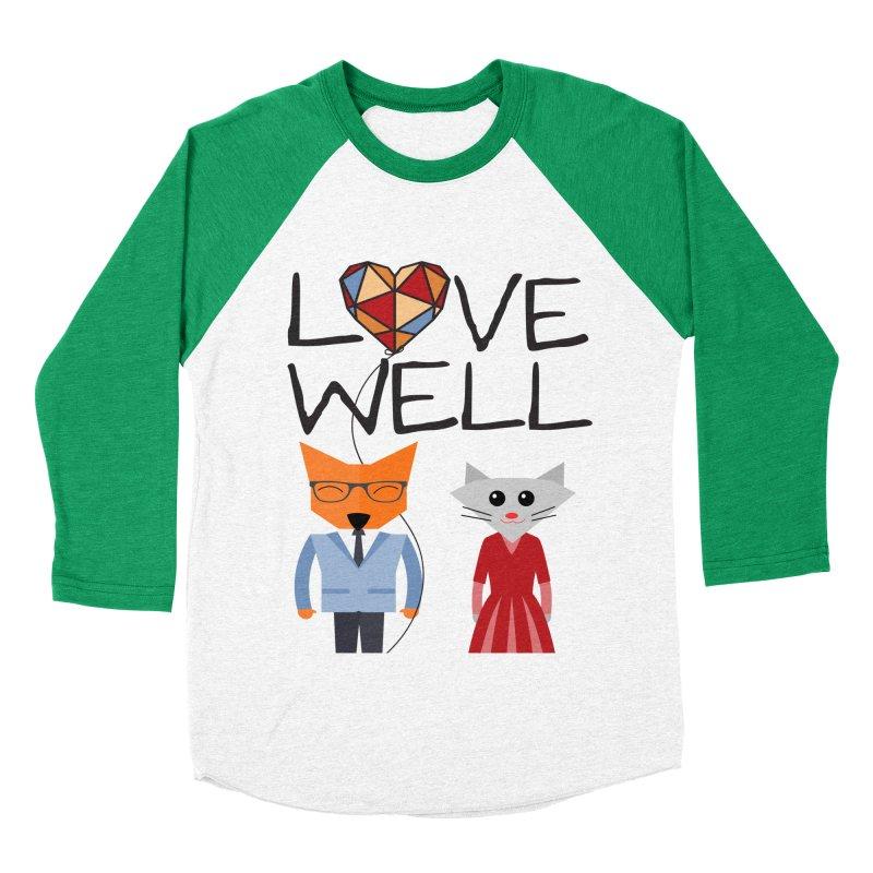 Foxy Lovewell Cat (by Tobi Waldron) Men's Baseball Triblend Longsleeve T-Shirt by Lovewell's Artist Shop