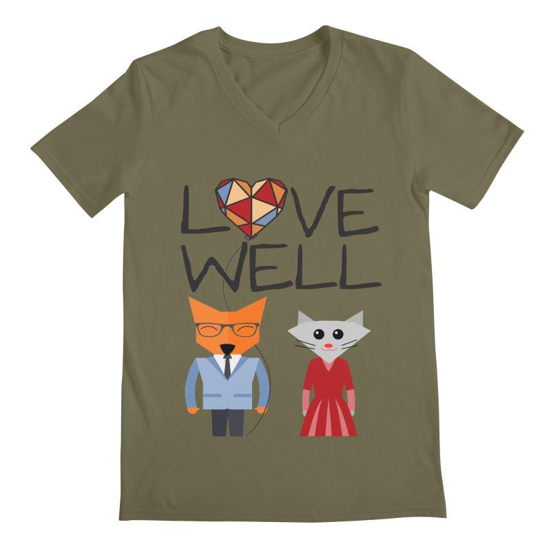 Foxy Lovewell Cat (by Tobi Waldron) Men's V-Neck by Lovewell's Artist Shop
