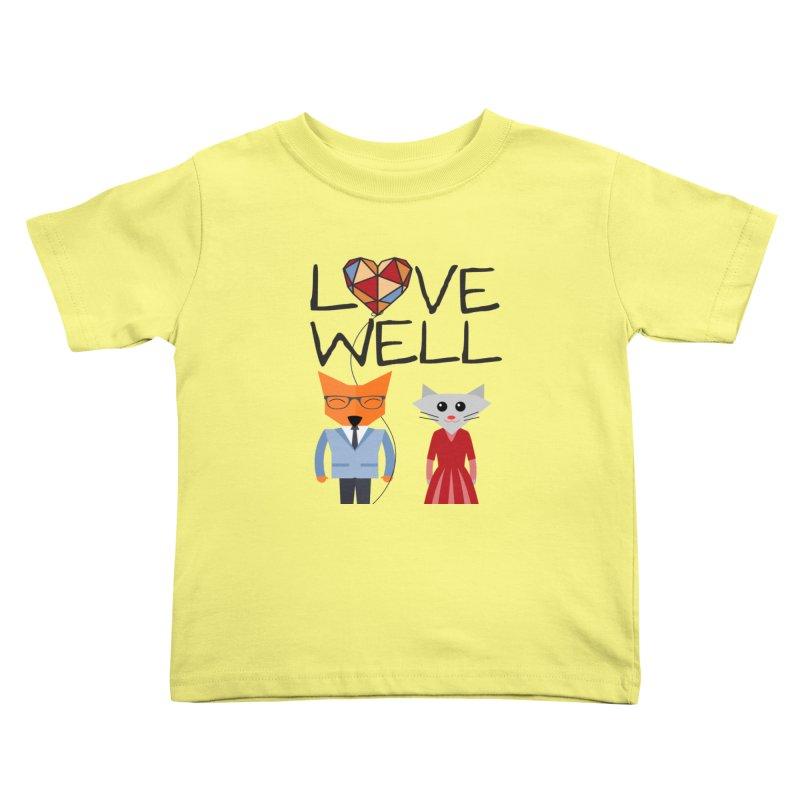 Foxy Lovewell Cat (by Tobi Waldron) Kids Toddler T-Shirt by Love Well's Artist Shop