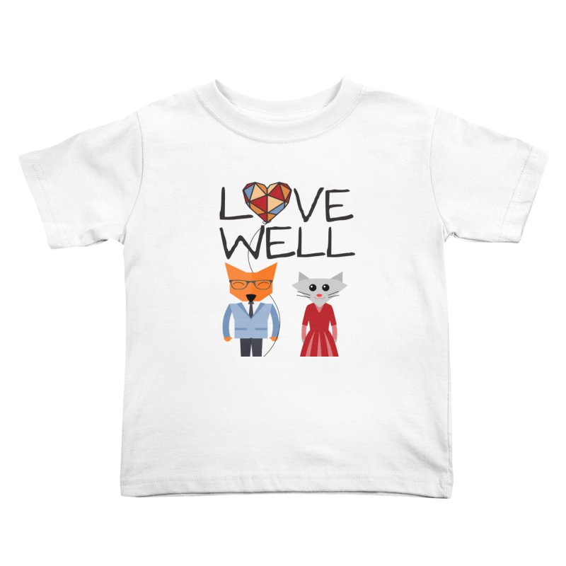 Foxy Lovewell Cat (by Tobi Waldron) Kids Toddler T-Shirt by Lovewell's Artist Shop