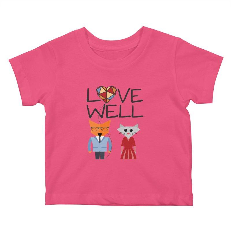 Foxy Lovewell Cat (by Tobi Waldron) Kids Baby T-Shirt by Lovewell's Artist Shop