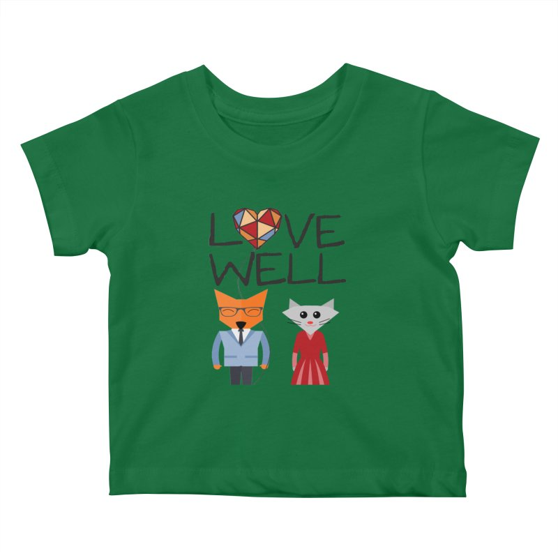 Foxy Lovewell Cat (by Tobi Waldron) Kids Baby T-Shirt by Love Well's Artist Shop