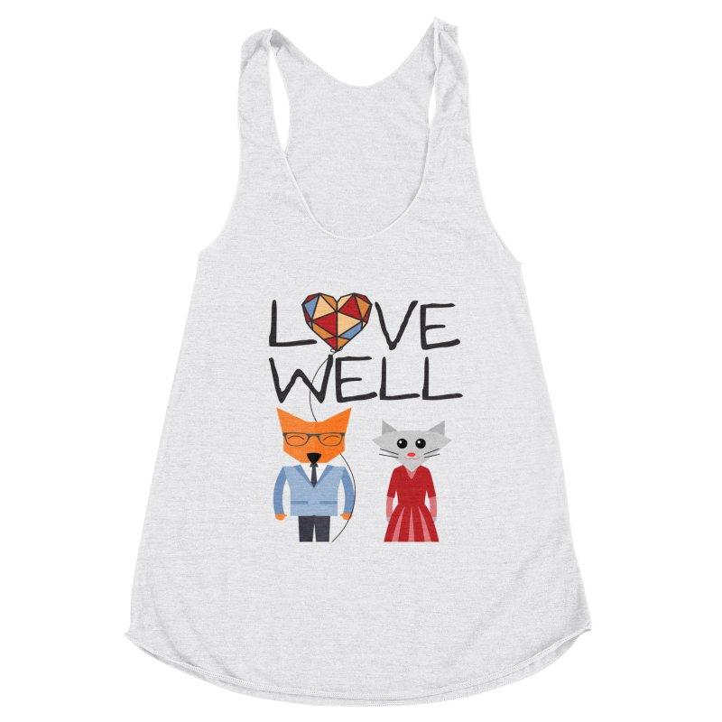 Foxy Lovewell Cat (by Tobi Waldron) Women's Tank by Love Well's Artist Shop