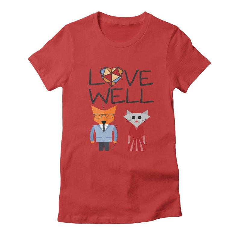 Foxy Lovewell Cat (by Tobi Waldron) Women's T-Shirt by Love Well's Artist Shop