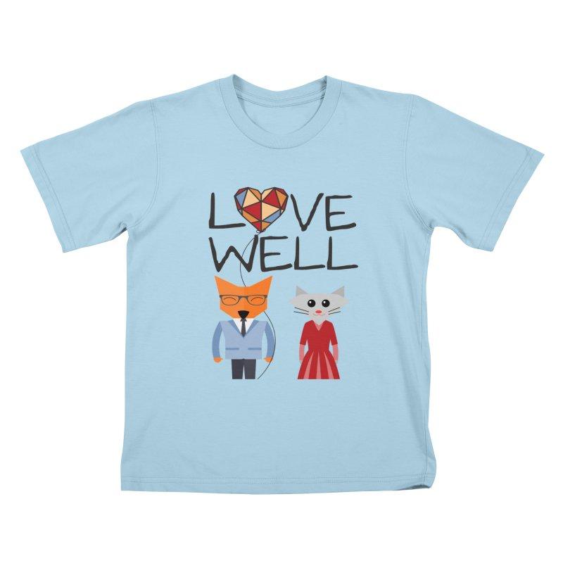 Foxy Lovewell Cat (by Tobi Waldron) Kids T-Shirt by Lovewell's Artist Shop