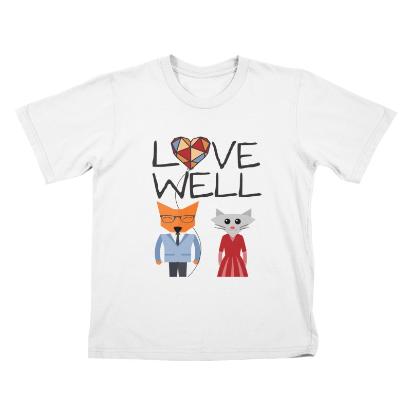 Foxy Lovewell Cat (by Tobi Waldron) Kids T-Shirt by Love Well's Artist Shop