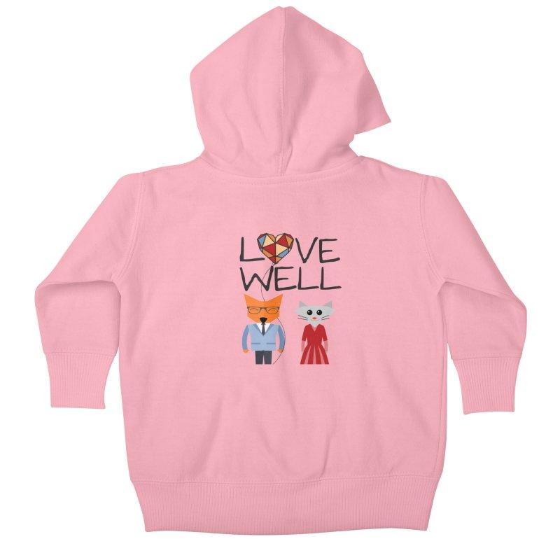 Foxy Lovewell Cat (by Tobi Waldron) Kids Baby Zip-Up Hoody by Love Well's Artist Shop