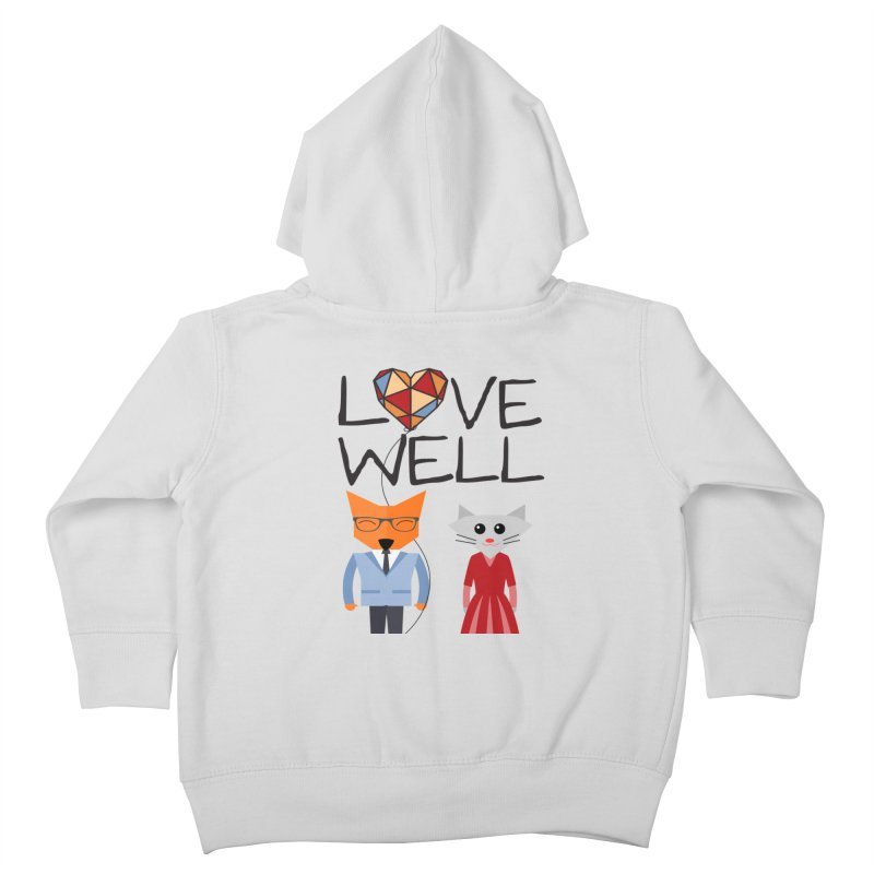 Foxy Lovewell Cat (by Tobi Waldron) Kids Toddler Zip-Up Hoody by Love Well's Artist Shop