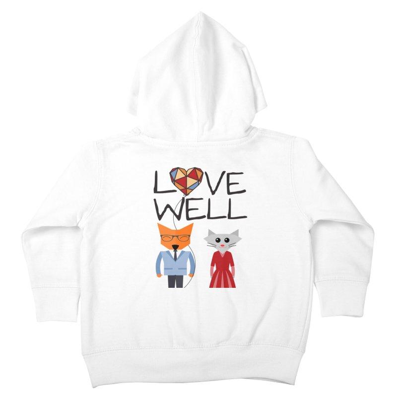 Foxy Lovewell Cat (by Tobi Waldron) Kids Toddler Zip-Up Hoody by Love Well's Artist Shop