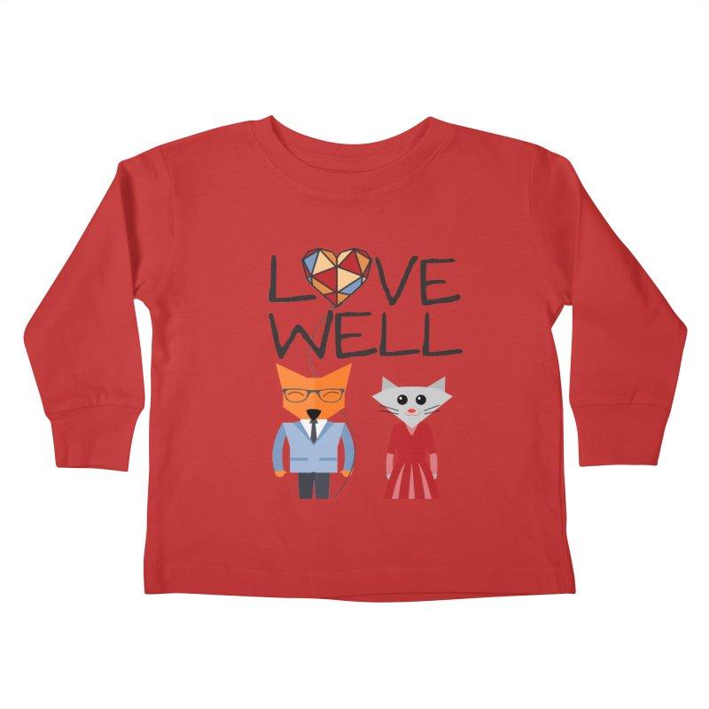 Foxy Lovewell Cat (by Tobi Waldron) Kids Toddler Longsleeve T-Shirt by Lovewell's Artist Shop