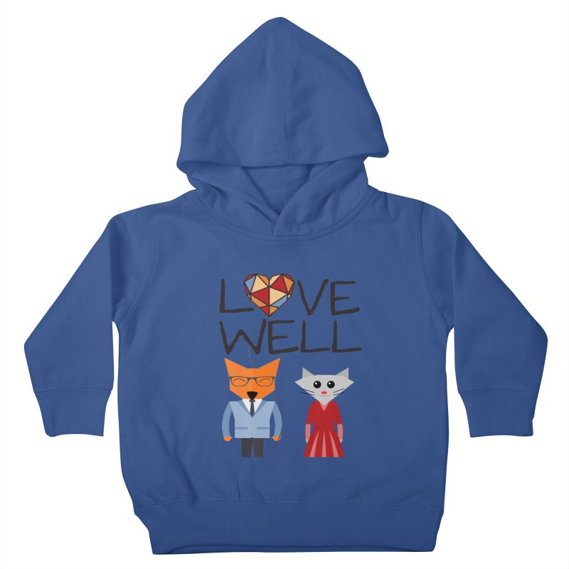Foxy Lovewell Cat (by Tobi Waldron) Kids Toddler Pullover Hoody by Lovewell's Artist Shop