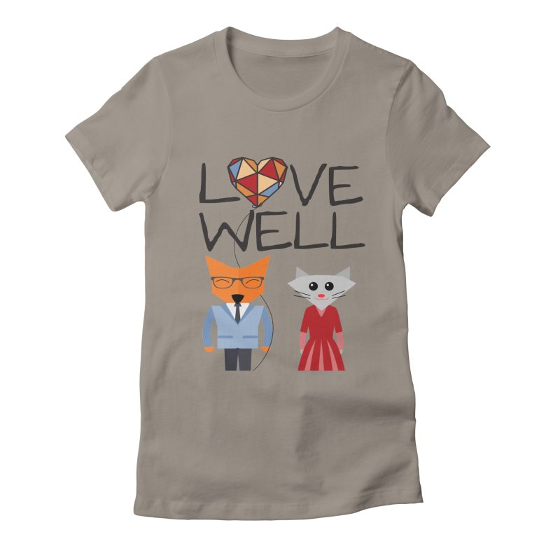 Foxy Lovewell Cat (by Tobi Waldron) Women's Fitted T-Shirt by Lovewell's Artist Shop