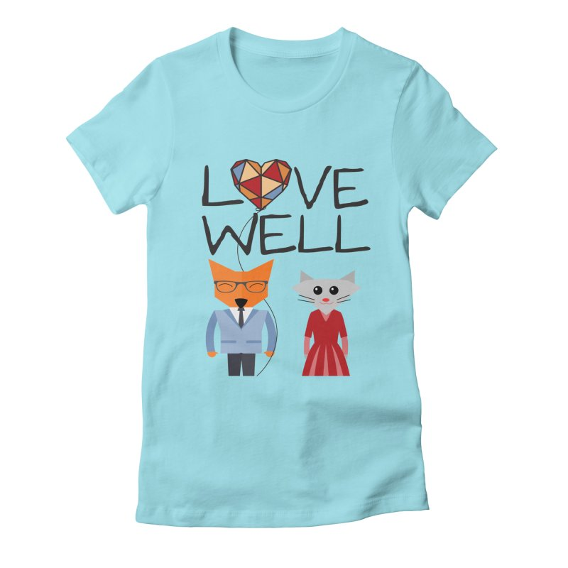 Foxy Lovewell Cat (by Tobi Waldron) Women's T-Shirt by Love Well's Artist Shop