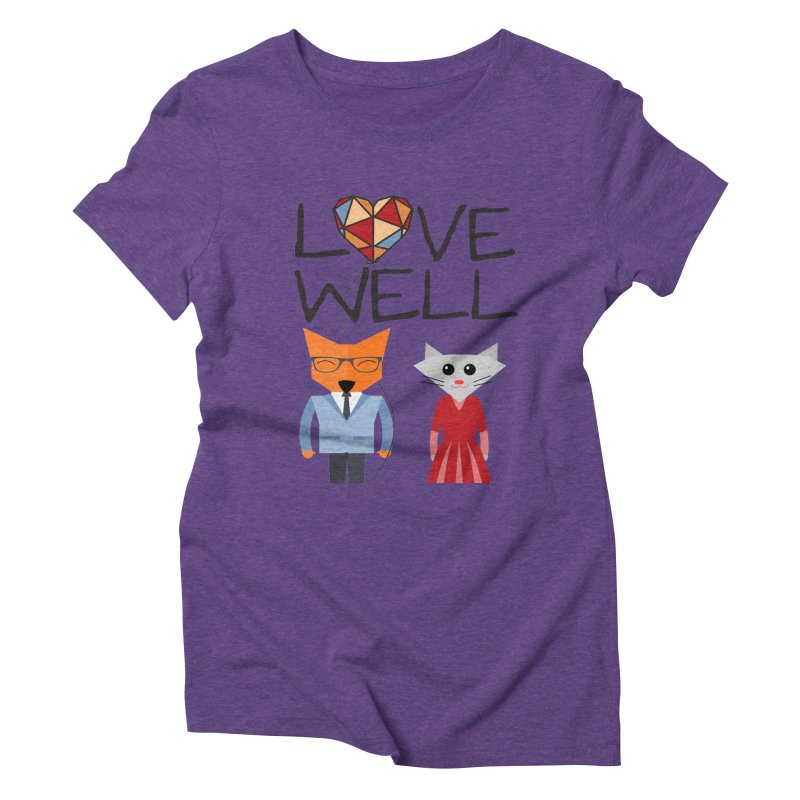 Foxy Lovewell Cat (by Tobi Waldron) Women's Triblend T-Shirt by Love Well's Artist Shop