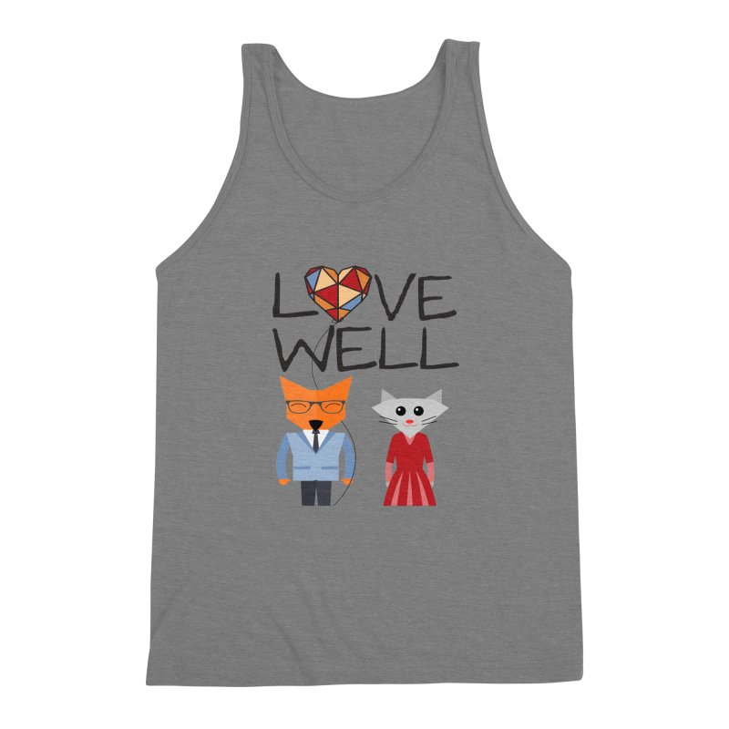 Foxy Lovewell Cat (by Tobi Waldron) Men's Triblend Tank by Lovewell's Artist Shop