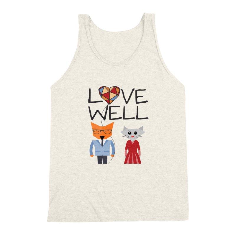 Foxy Lovewell Cat (by Tobi Waldron) Men's Triblend Tank by Love Well's Artist Shop
