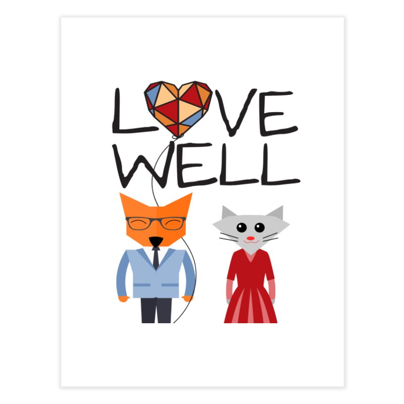 Foxy Lovewell Cat (by Tobi Waldron) Home Fine Art Print by Love Well's Artist Shop