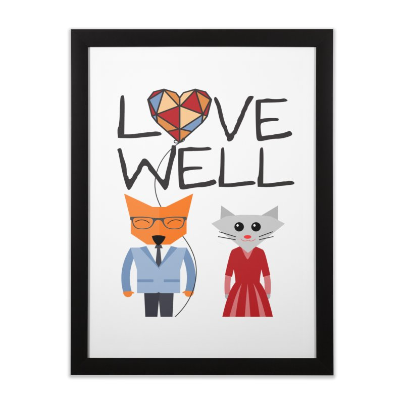Foxy Lovewell Cat (by Tobi Waldron) Home Framed Fine Art Print by Love Well's Artist Shop