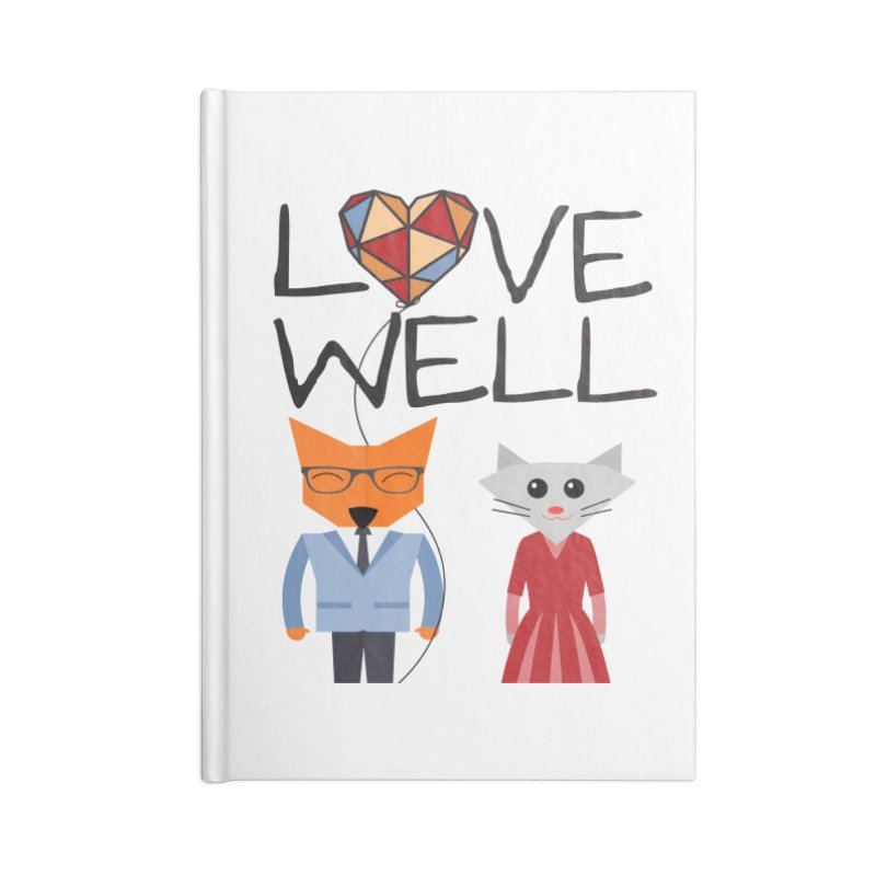 Foxy Lovewell Cat (by Tobi Waldron) Accessories Blank Journal Notebook by Love Well's Artist Shop