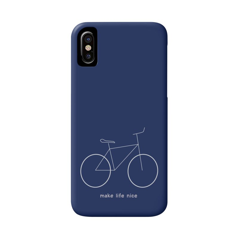 make life nice (on a bike) Accessories Phone Case by \\ LOVING RO<3OT .boop.boop.