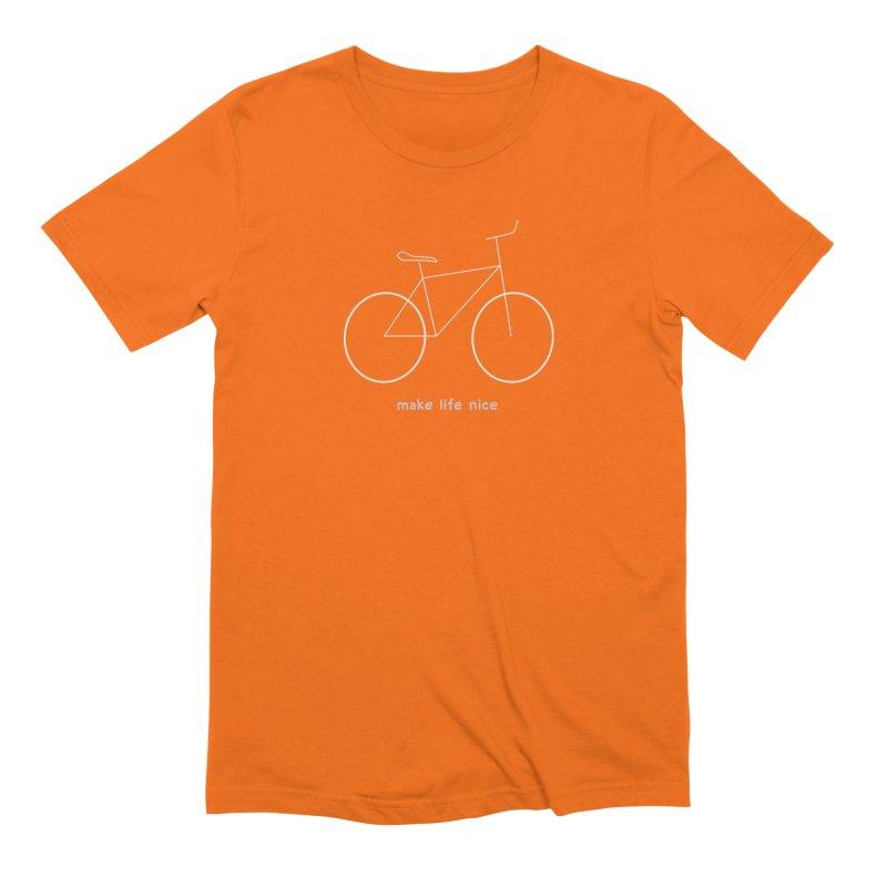 make life nice (on a bike) Men's Extra Soft T-Shirt by \\ LOVING RO<3OT .boop.boop.