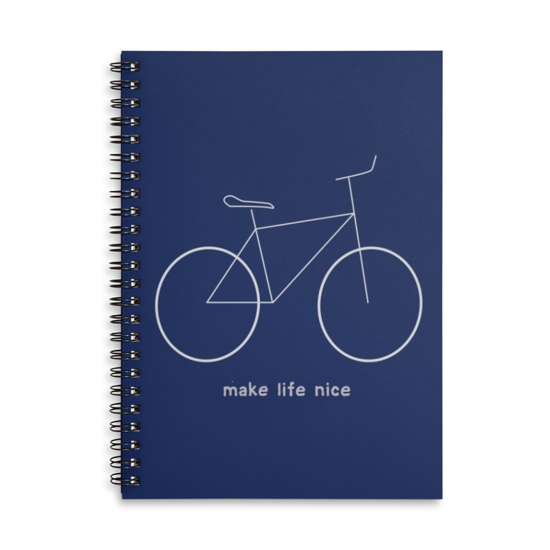 make life nice (on a bike) Accessories Lined Spiral Notebook by \\ LOVING RO<3OT .boop.boop.