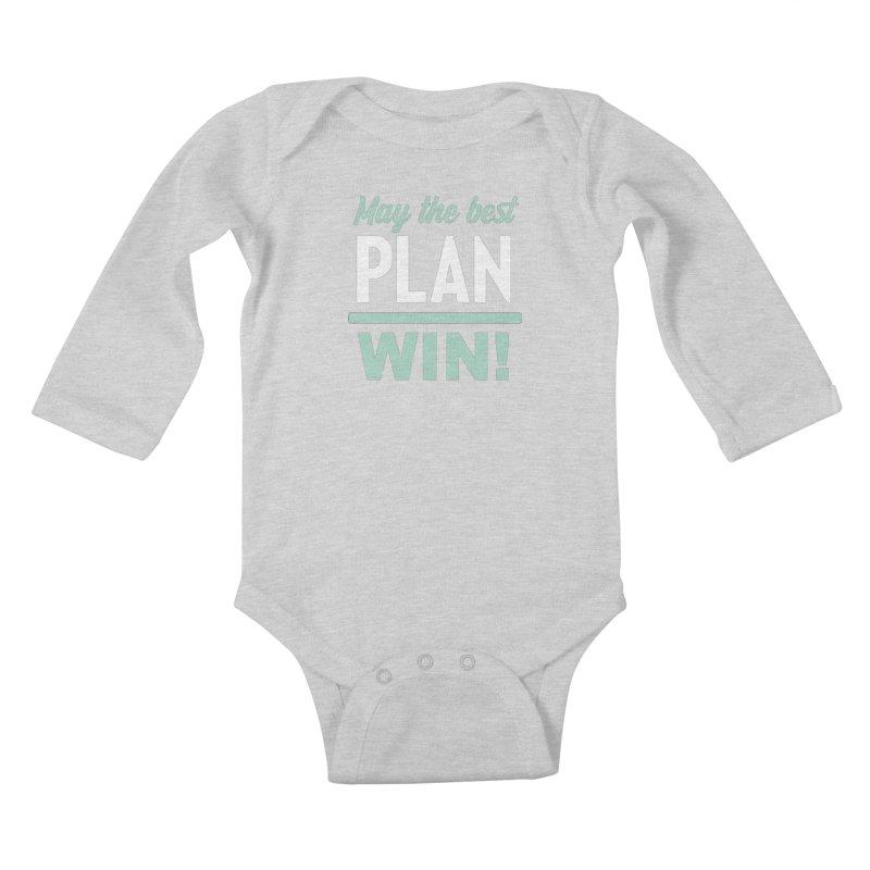 May the Best Plan Win! (Elizabeth Warren in 2020!) Kids Baby Longsleeve Bodysuit by \\ LOVING RO<3OT .boop.boop.