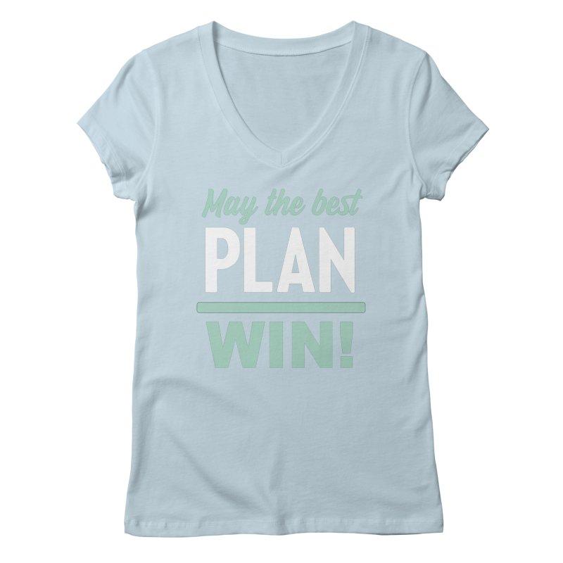May the Best Plan Win! (Elizabeth Warren in 2020!) Women's Regular V-Neck by \\ LOVING RO<3OT .boop.boop.