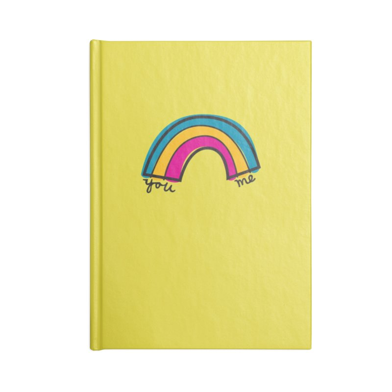 You Me Rainbow Accessories Blank Journal Notebook by \\ LOVING RO<3OT .boop.boop.