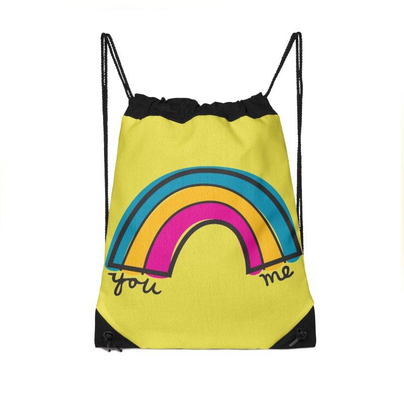You Me Rainbow Accessories Drawstring Bag Bag by \\ LOVING RO<3OT .boop.boop.