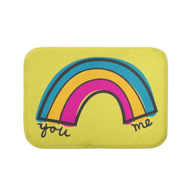You Me Rainbow Home Bath Mat by \\ LOVING RO<3OT .boop.boop.