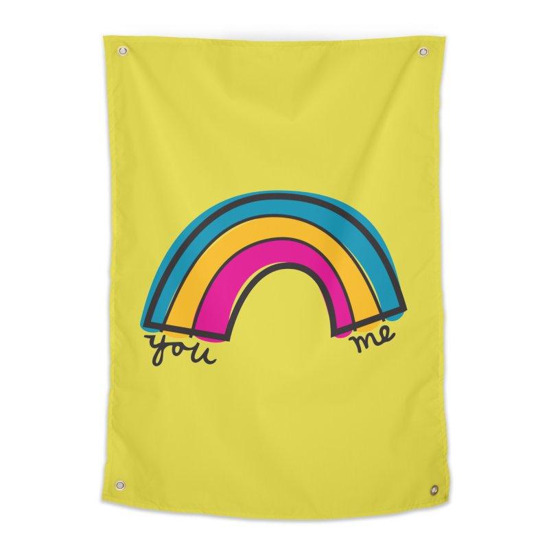 You Me Rainbow Home Tapestry by \\ LOVING RO<3OT .boop.boop.