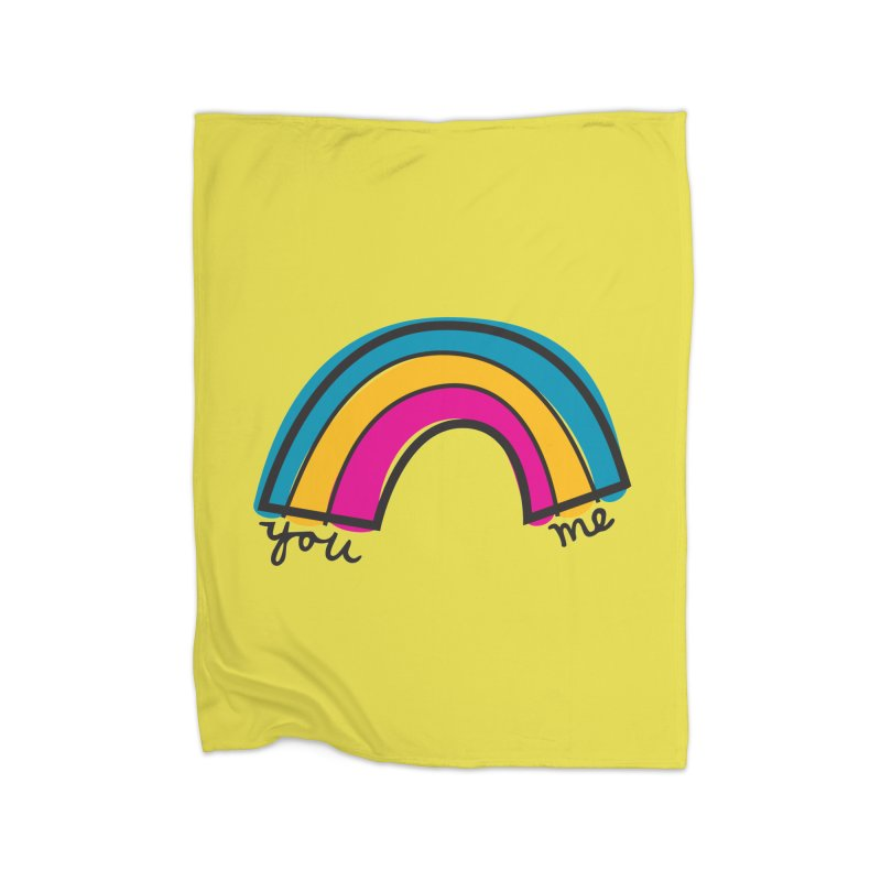 You Me Rainbow Home Fleece Blanket Blanket by \\ LOVING RO<3OT .boop.boop.