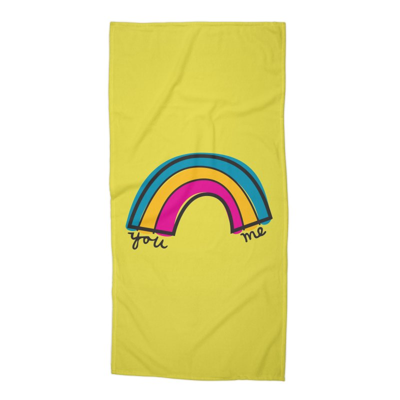 You Me Rainbow Accessories Beach Towel by \\ LOVING RO<3OT .boop.boop.