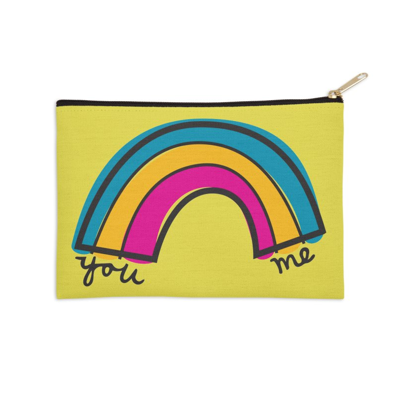 You Me Rainbow Accessories Zip Pouch by \\ LOVING RO<3OT .boop.boop.