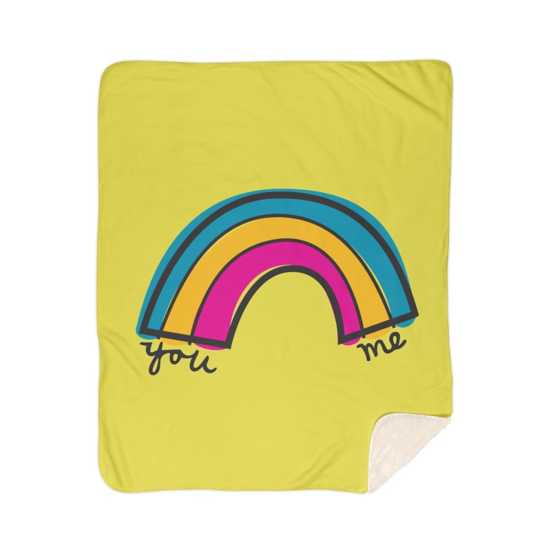You Me Rainbow Home Sherpa Blanket Blanket by \\ LOVING RO<3OT .boop.boop.