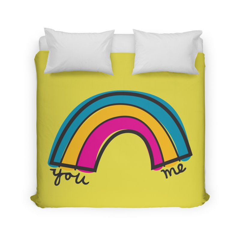 You Me Rainbow Home Duvet by \\ LOVING RO<3OT .boop.boop.