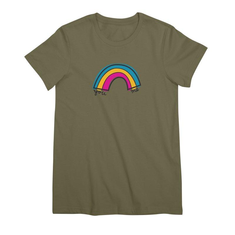 You Me Rainbow Women's Premium T-Shirt by \\ LOVING RO<3OT .boop.boop.