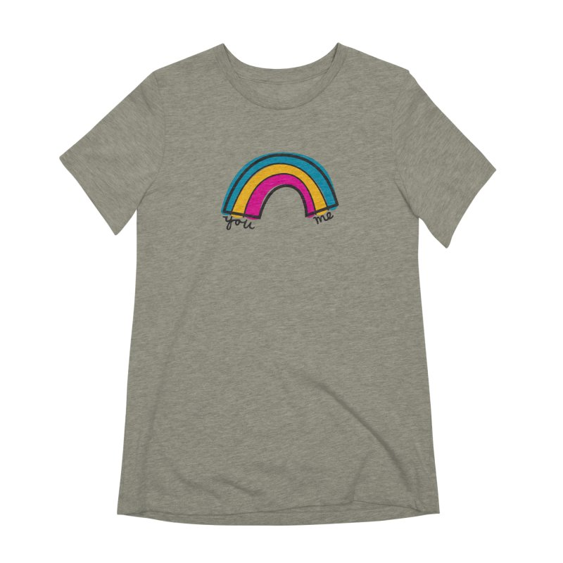 You Me Rainbow Women's Extra Soft T-Shirt by \\ LOVING RO<3OT .boop.boop.