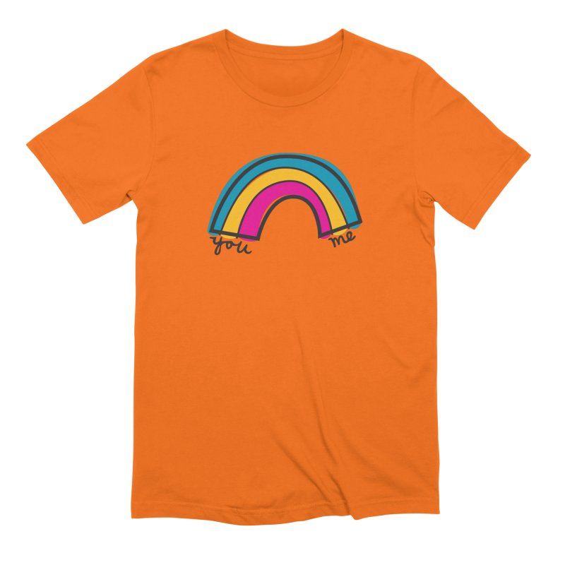 You Me Rainbow Men's Extra Soft T-Shirt by \\ LOVING RO<3OT .boop.boop.